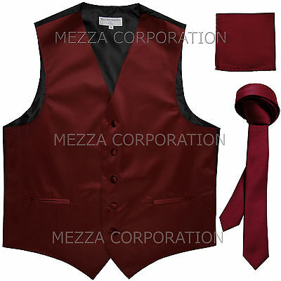 New Men/'s Vesuvio Napoli Paisley Tuxedo Vest only prom party Dark Purple