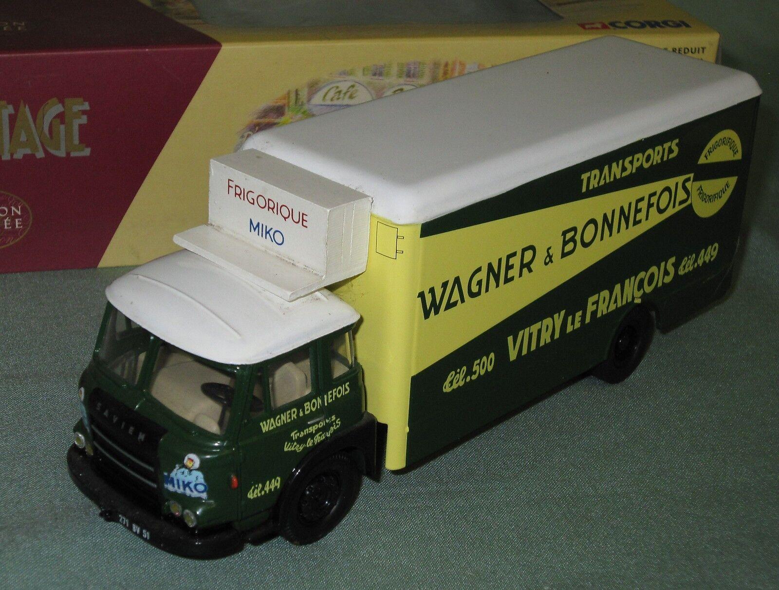 Z428 CORGI HERITAGE RENAULT JL CAMION TRANSPORTS WAGNER BONNEFOIS 1 50 70905 NB