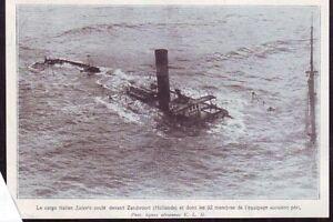 1928 -- HOLLANDE LE CARGO ITALIEN ALENTO COULE A ZANDVOORT X325 6IrDhmfv-09162331-801456567