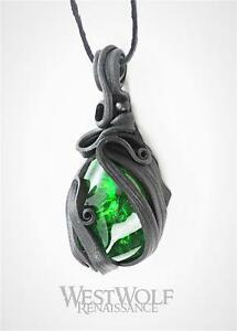 Sculpted leather green stone life potion pendant medieval image is loading sculpted leather green stone 034 life potion 034 aloadofball Image collections