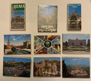 Souvenir Vintage Postcard Folders Lot of 9 - Italy & South America.