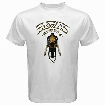 New Eagles Rock Band *The Very Best Men's White T-Shirt Size S-3XL 100% cotton