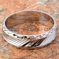 925 Silver Wedding Band Men's & Women's Ring Shiny Bridal Jewelry Lwr