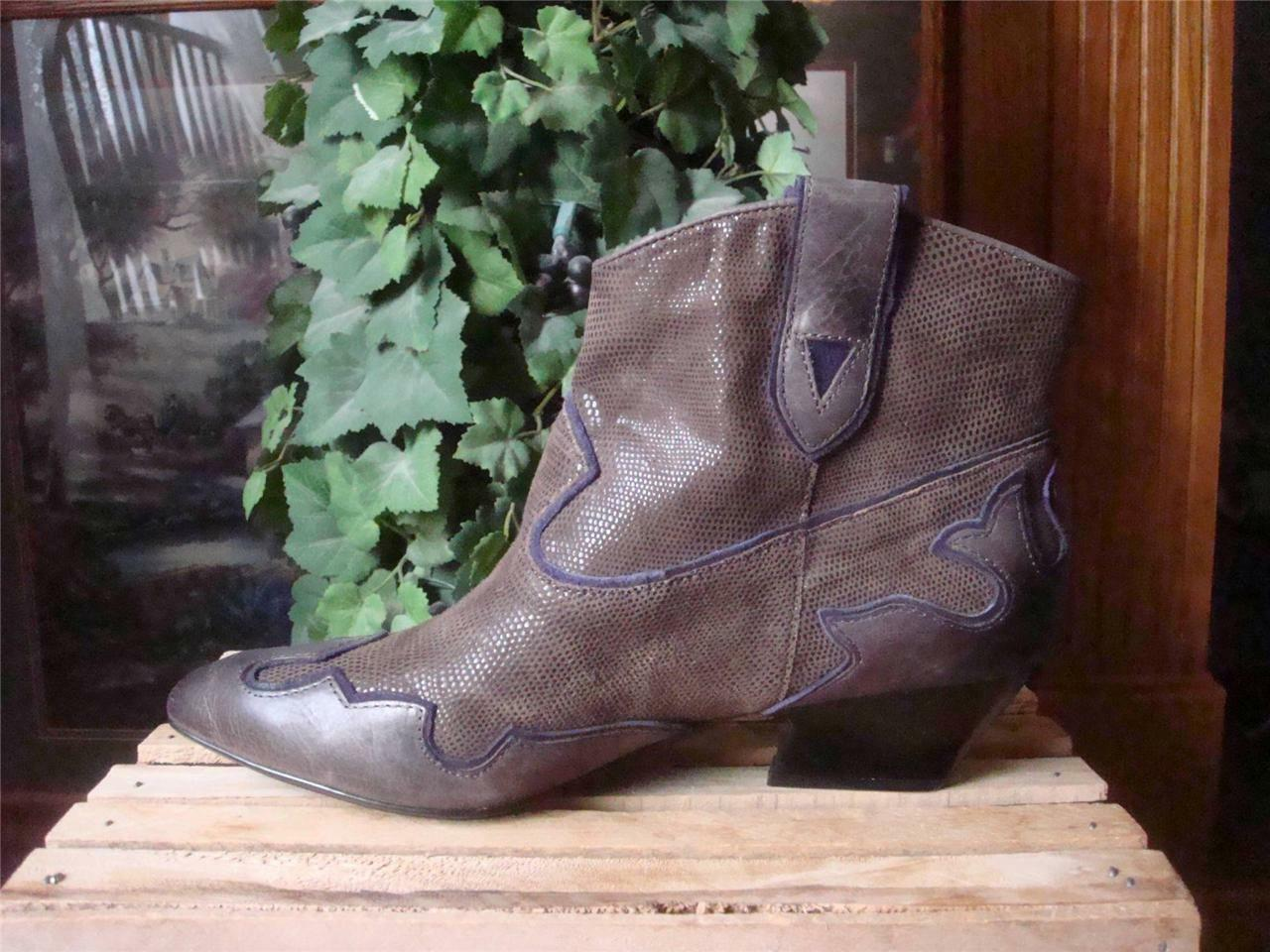 NEW ISOLA ODIN TAUPE BROWN LEATHER & SUEDE 8/7.5 FASHION WESTERN ANKLE StiefelSZ 8/7.5 SUEDE 9679e6