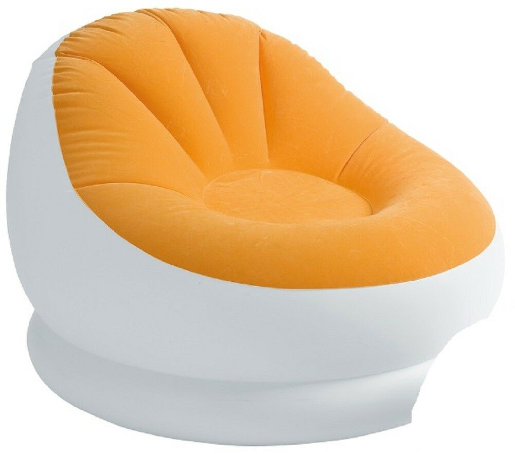 10E Intex Inflatable Colorful Cafe Chaise Lounge Chair w