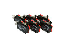6 Pc Temco Micro Limit Switch Short Roller Lever Arm Spdt Snap Action Home Lot