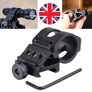 Offset-Scope-Flashlight-Holder-Torch-Laser-Weaver-For-Rifle-Picatinny-Rail-Mount