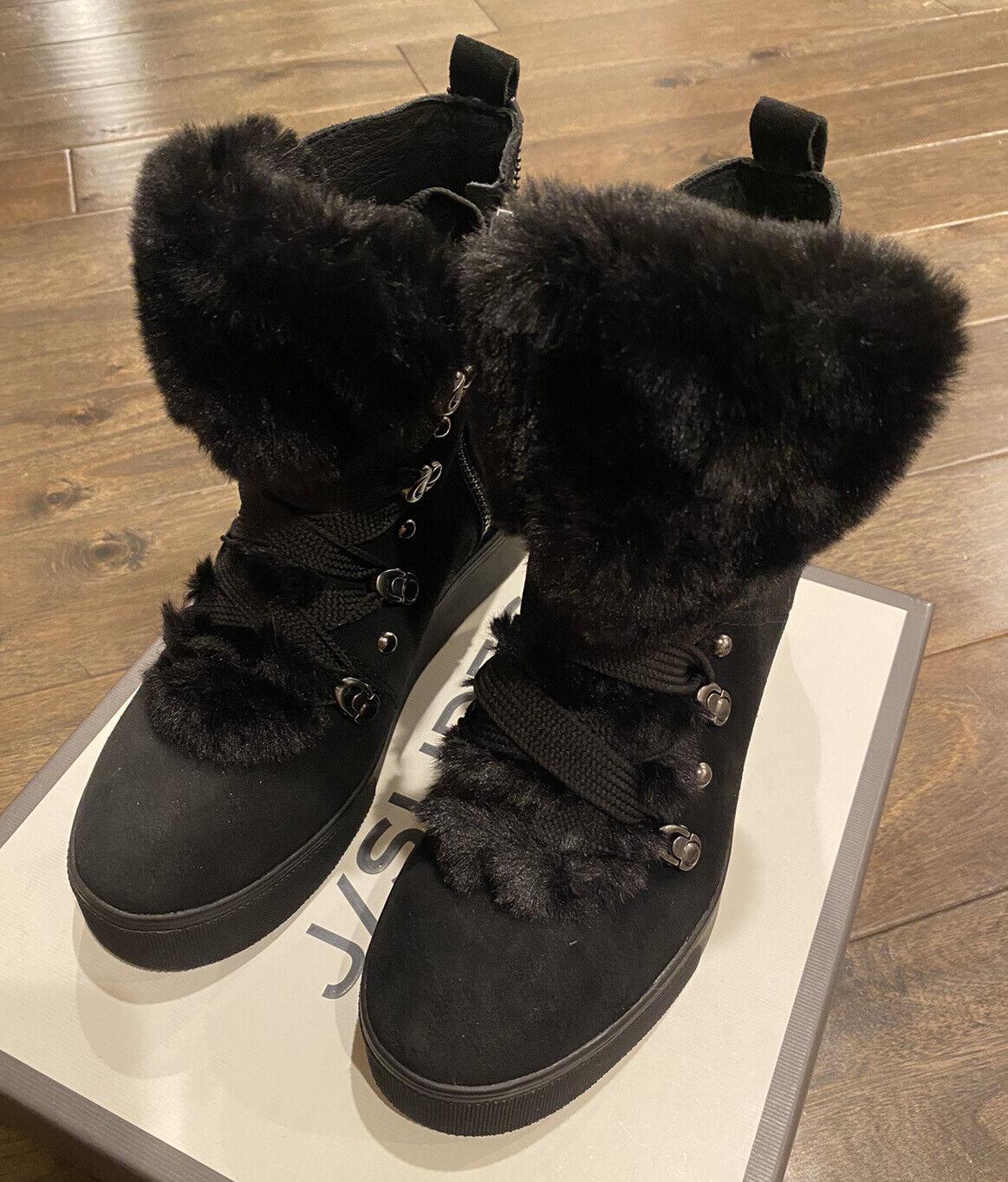 NEW J/Slides Womens Whitney Suede High Top Zipper Sneakers Black Size 8.5 NIB