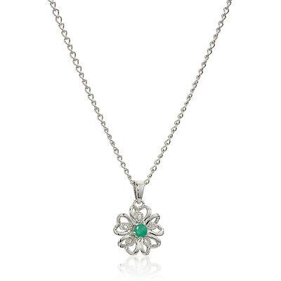 18 Pinctore 10k Yellow Gold Peridot Heart Diamond Pendant Necklace