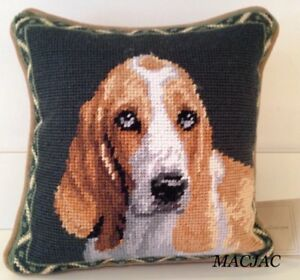 """Airedale Dog Needlepoint Pillow 10/""""x10/"""" NWT"""