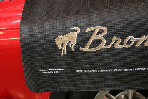 Ford Bronco Logo Black Fender Gripper Cushion Protective Fender Cover FG2141