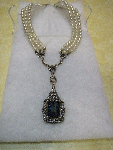 """HEIDI DAUS """"Green With Envy"""" 3-Row Beaded 22"""" L.Necklace(Orig.$239.95)-LAST ONE!"""