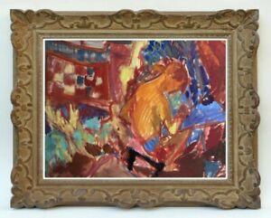 Decouverte-d-039-une-grande-painter-painting-superb-scene-painted-99