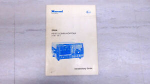 Marconi-2955A-Service-Monitor-ORIGINAL-PRINTED-MANUAL-Not-a-Copy