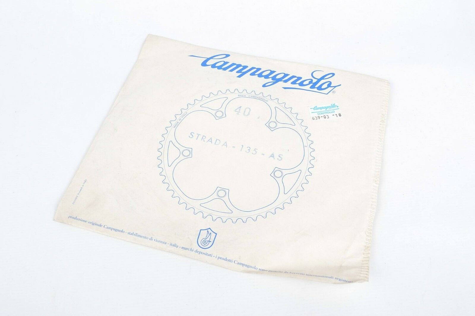 Vintage Campagnolo Bicycle Chainring 40T 135 BCD NOS Retro Road Bike Parts