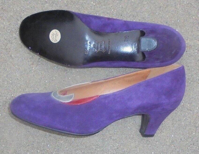 Carel Paris damen lila leather high heel heel heel schuhe Größe 7 1 2 unused eb80b0