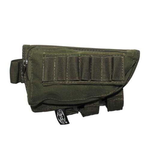 MFH Rifle Stock Butt Cheek Pad Ammo Pouch vert airsoft tir 30758b