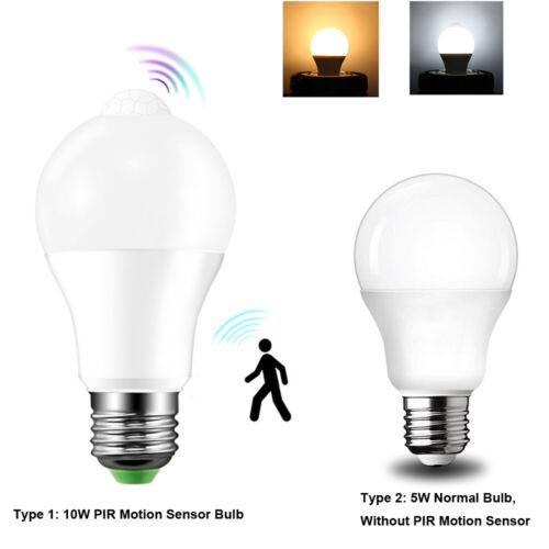 E27 Motion Sensor Bulb Light Smart PIR LED Automatic Bulb 12