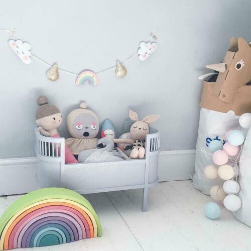 Cartoon niedliche Wolke Liebe Herz Stern Baby Wandbehang 1,5 m Ornamente De F0O8
