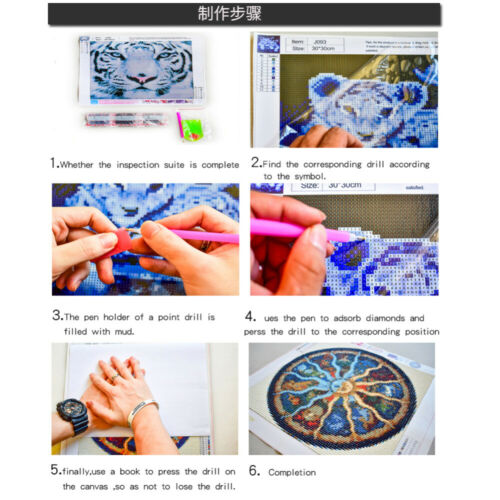 Fai DA TE 5D TRAPANO COMPLETO MICKEY MINNIE Diamond Pittura Kit Ricamo DECORS Regali UK