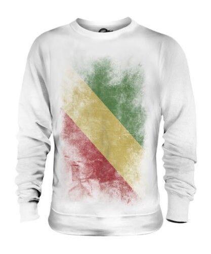 Kongo Verblichen Flag Unisex Pullover Top Congolese Hemd Fußball Trikot Geschenk