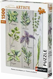 Nathan-Collection-Artiste-Puzzle-Plantes-Aromatiques-1500-Pieces-87786