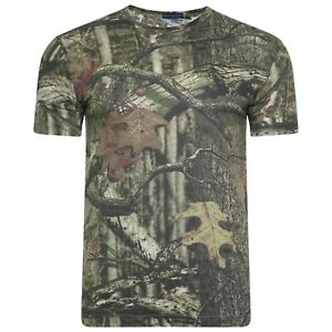 Mens Crew Neck T Shirts Camouflage Jungle Real Tree Print Polo Size S M L XL XXL