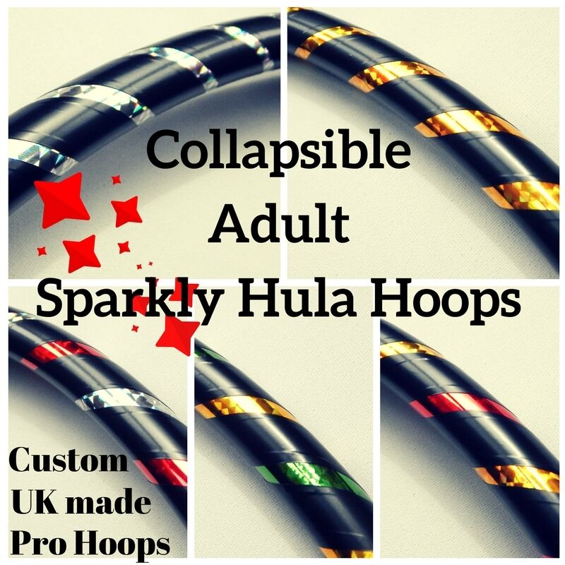 Professional COLLAPSIBLE Adult Exercise Hula Hoop  SHIMMERY RANGE  UK Hand Made