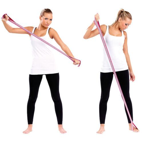 85 cm Fitnessband Gummi Gummiband mit Handschlaufen Fitnessband