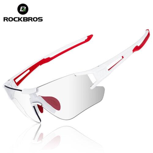 ROCKBROS Photochromic Cycling Sunglasses Running Sports Eyewear UV400 Glasses UK