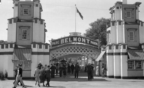 1936-7 Montreal Photo Entrance to Belmont Park