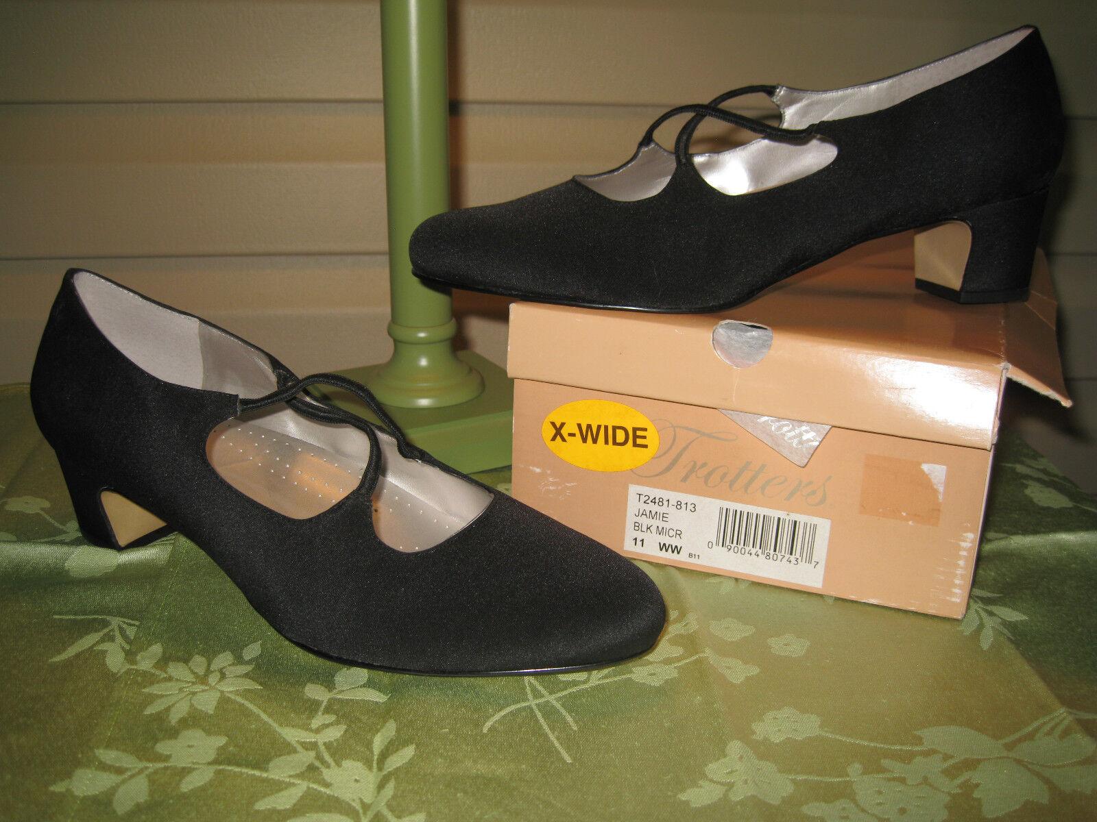 Tredters Tredters Tredters Womens Jamie Black Micro Heels shoes NEW IN BOX 9beaeb