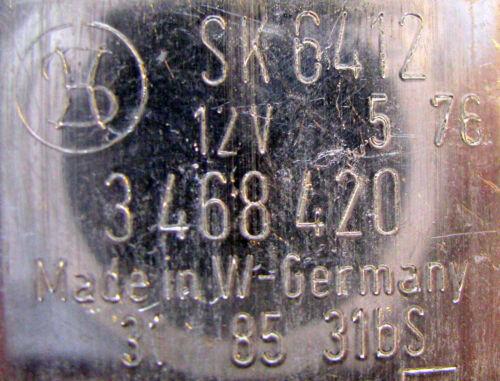 Relais de contrôle Relais Stribel 3468420 div véhicules sk6412 d/'origine