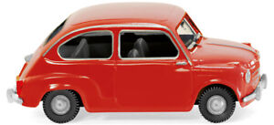 AgréAble Wiking 0099 04 Fiat 600 Année 1956 Rouge H0 1/87