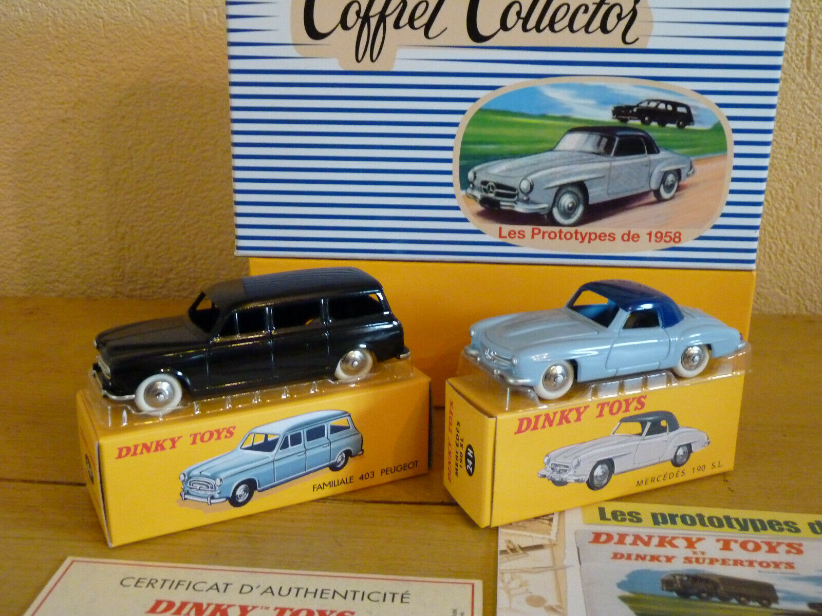 Coffret collector Les prossootypes de 1958  ref ref ref 24 FH au 1 43 de dinky giocattoli atlas 96fbf8