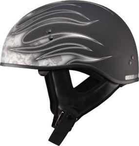 Gmax GM-65 Naked Torque Half Helmet Matte Silver