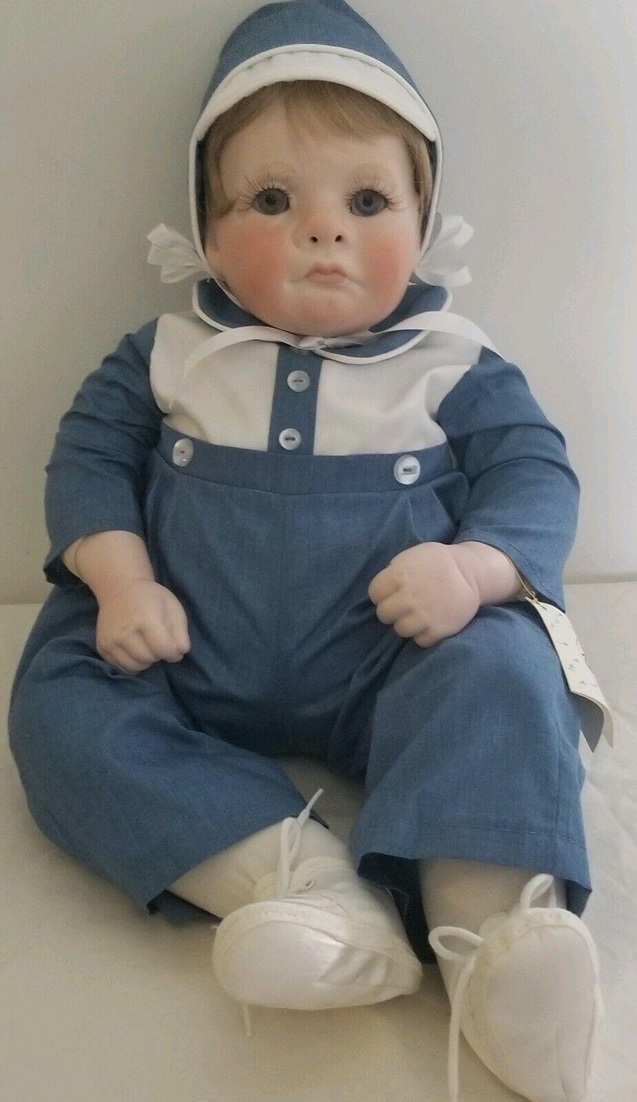 Judith Turner porcelin suave con cuerpo de 20   Baby Teri  Muñeca firmado 7-2-87 Rara