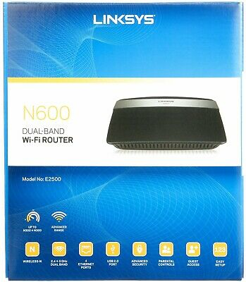 Linksys N600 E2500 300 Mbps 4-Port 10//100 Wireless N Router