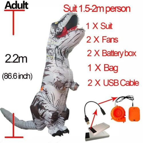 Halloween T REX Dinosaur Inflatable Costume Party Cosplay Fancy Anime Adult//Kid