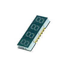 2x KW3-281CVA Display LED 7-segmentig 7mm rot 35-70mcd Kathode Anz.Z 3