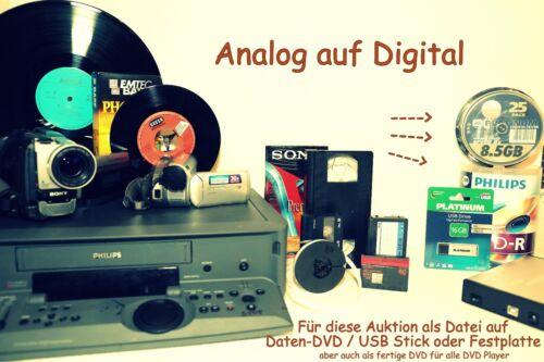 20 MiniDV digitalisieren überspielen auf Festplatte im AVI und mpg4 Format