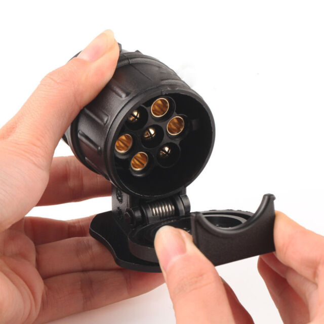 Car Trailer Truck 13 Pin to 7 Pin Plug Adapter Converter Tow Bar Socket Black ZY