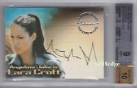 2003 TOMB RAIDER CRADLE OF LIFE AUTOGRAPH AUTO #A1: ANGELINA JOLIE BGS 9 with 10