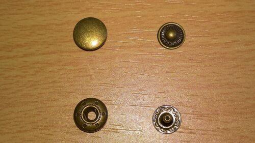 Boutons pression 15 sets métal bronzé rond 10 mm boutons pression anorak