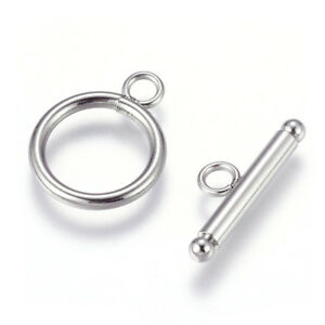 5-Sets-304-Stainless-Steel-Toggle-Clasps-Hollow-Ring-Closure-Findings-21x22mm