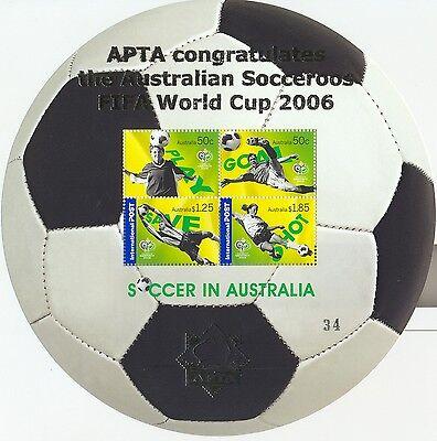 Stamps Australia 2006 football soccer mini sheet APTA overprint MUH, scarce     eBay
