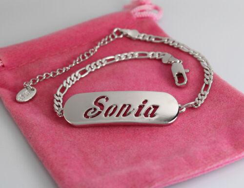 18ct White Gold Plated Personalised BraceletsSIMONE SOFIA SONIA SOPHIA STEFFI