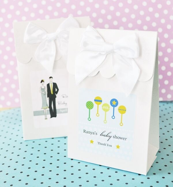 144 Elite Design Baby Shower Candy Boxes Bags Favors