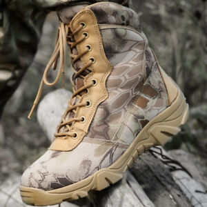 Outdoor-Men-Canvas-Camo-Boots-Military-Tactical-Army-Battle-Combat-Shoes-SWAT