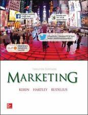 Marketing by Kerin, Hartley, Rudelius, 12 Edition (2014, Hardcover)